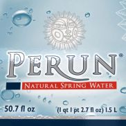 label for Perun mineral water